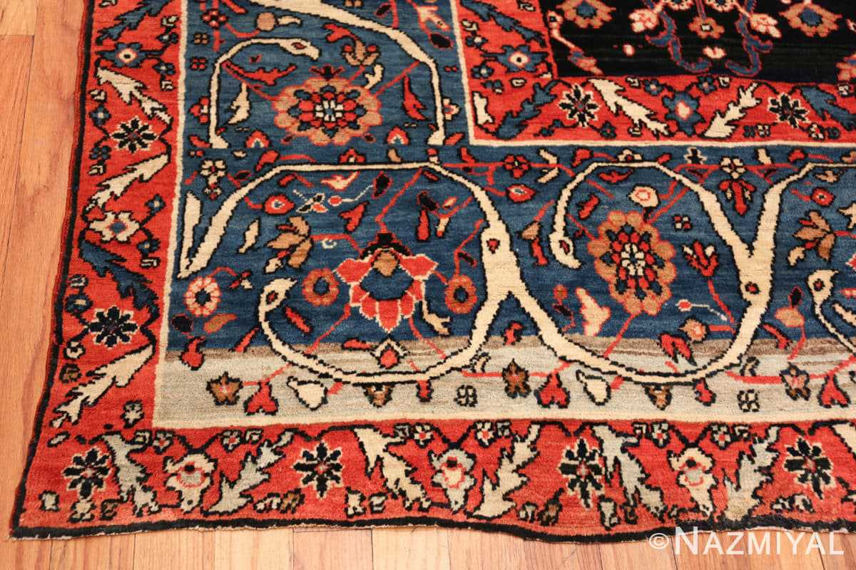 Corner Antique Persian Bakshash rug 48720 by Nazmiyal