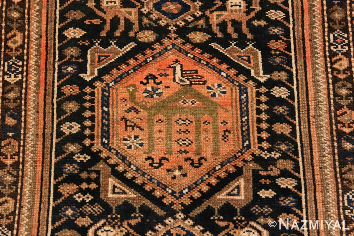 Close-up Vintage Persian qashqai rug 50466 by Nazmiyal