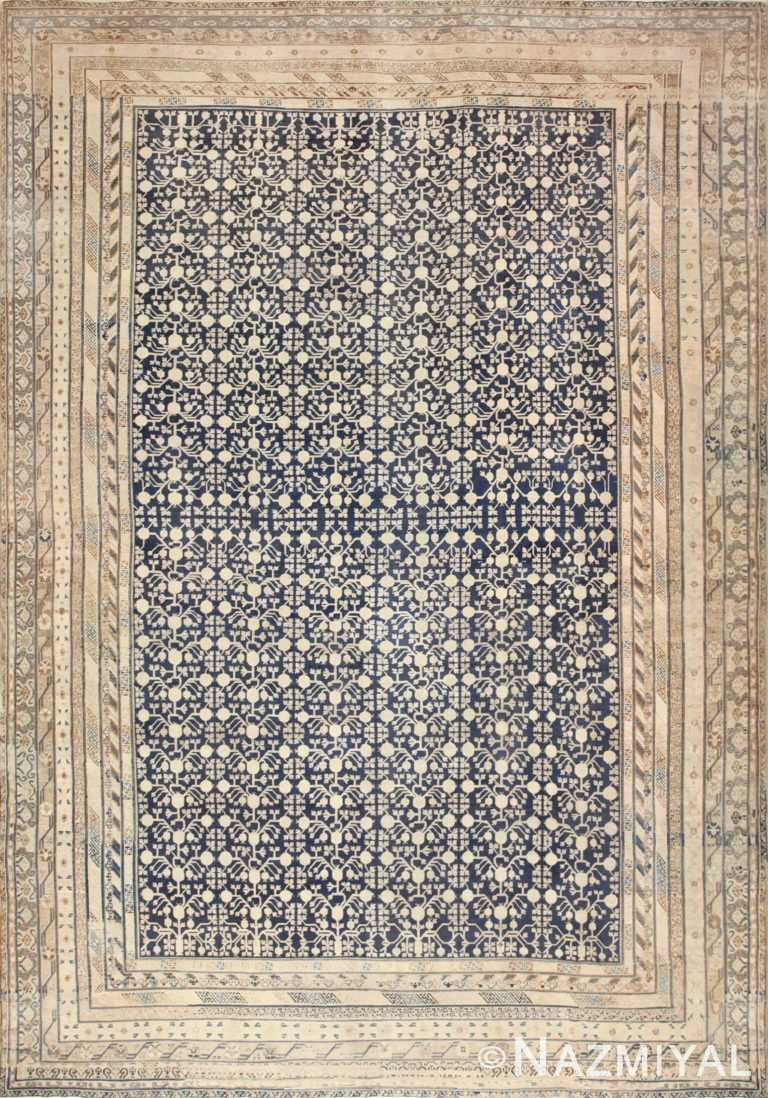 Oversized Antique Pomegranate Design Khotan Rug 50347 Nazmiyal