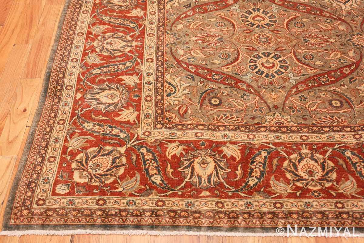 Corner Antique Persian Tabriz rug 50253 by Nazmiyal