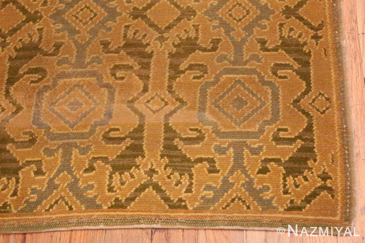 Corner Antique Spanish hallway runner rug 50472 by Nazmiyal