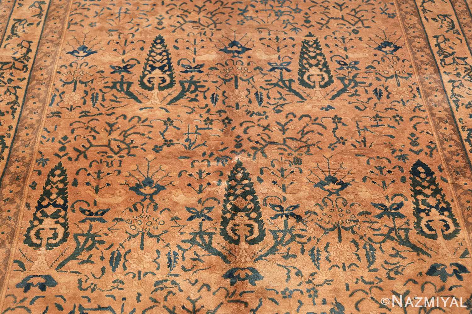 decorative antique indian rug 41830 field Nazmiyal