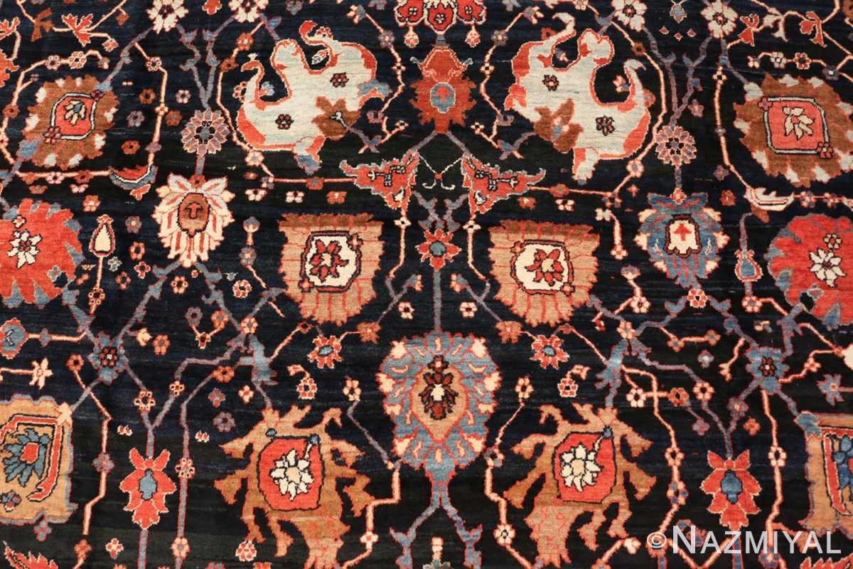 Detail antique Persian Bakshaish rug 48720 by Nazmiyal