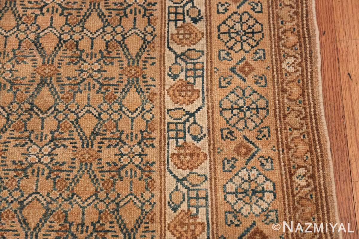 Detailed Alabaster Antique Persian Malayer Runner Rug 50427 Border Design Nazmiyal