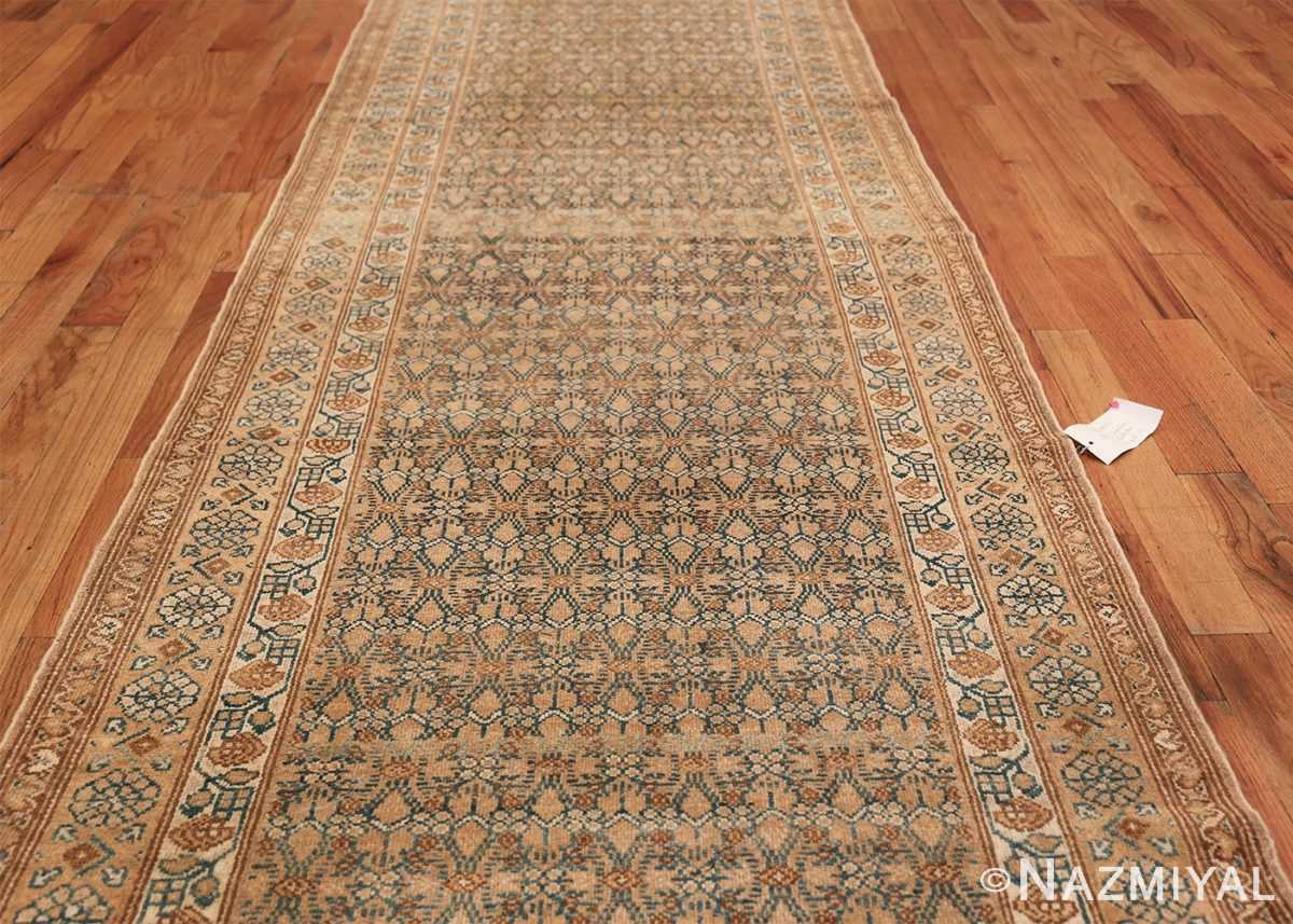 Detailed Alabaster Antique Persian Malayer Runner Rug 50427 Field Design Nazmiyal