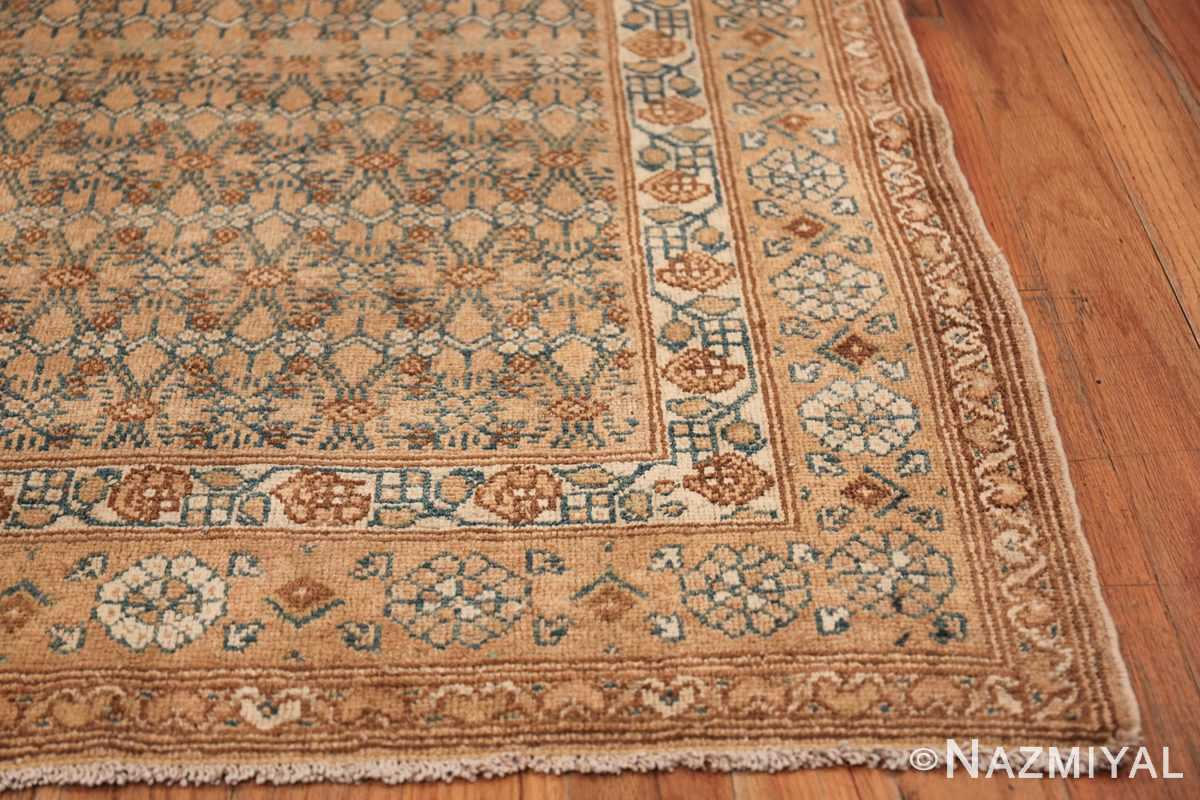 Detailed Alabaster Antique Persian Malayer Runner Rug 50427 Side Corner Nazmiyal