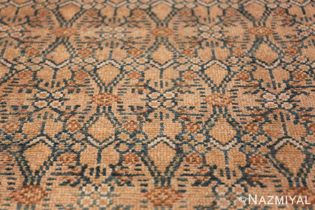 Detailed Alabaster Antique Persian Malayer Runner Rug 50427 Three Tiny Flowers Nazmiyal
