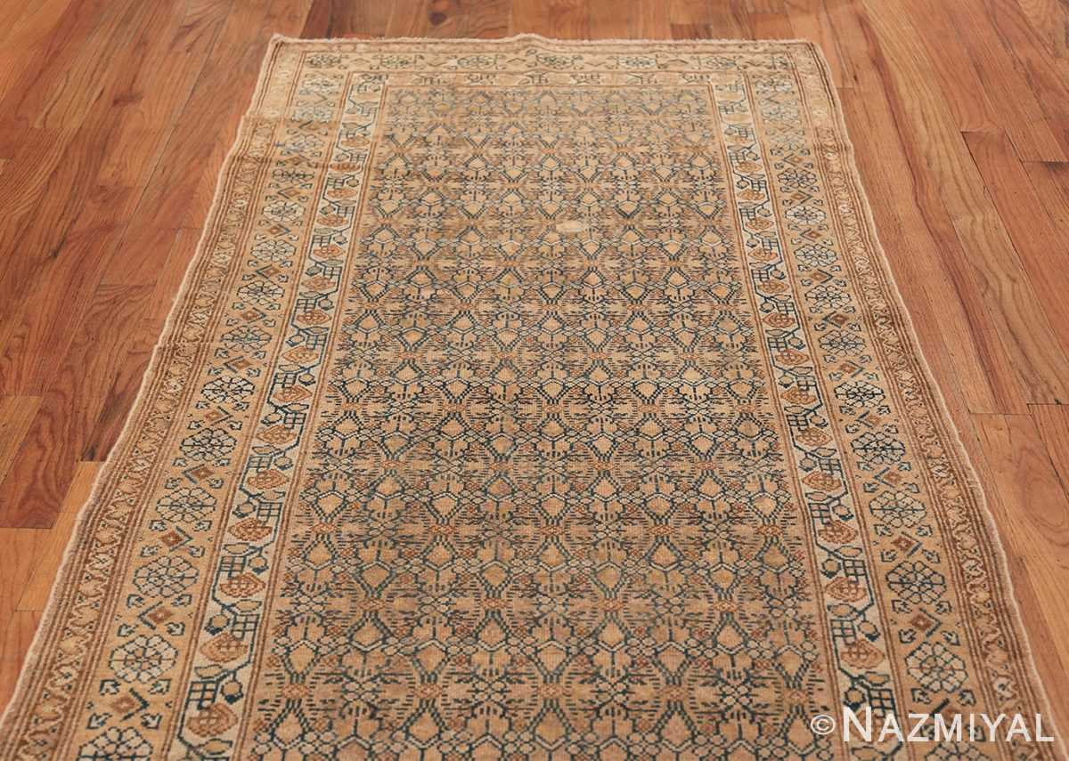 Detailed Alabaster Antique Persian Malayer Runner Rug 50427 Top Design Nazmiyal
