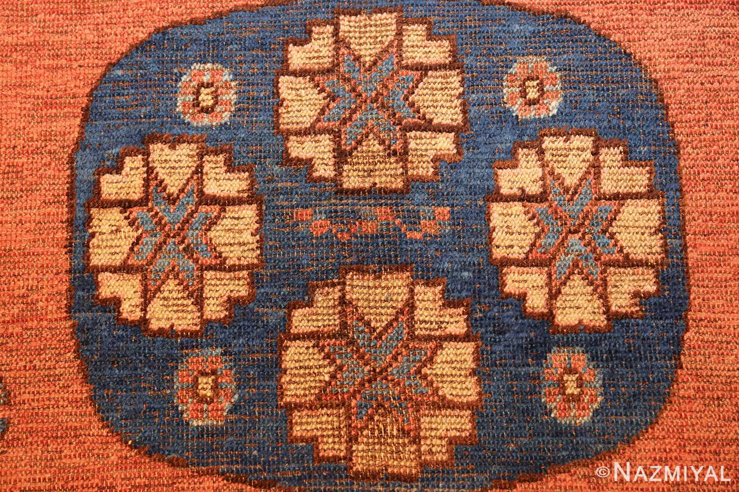early 18th century antique east turkestan khotan rug 50486 blue Nazmiyal