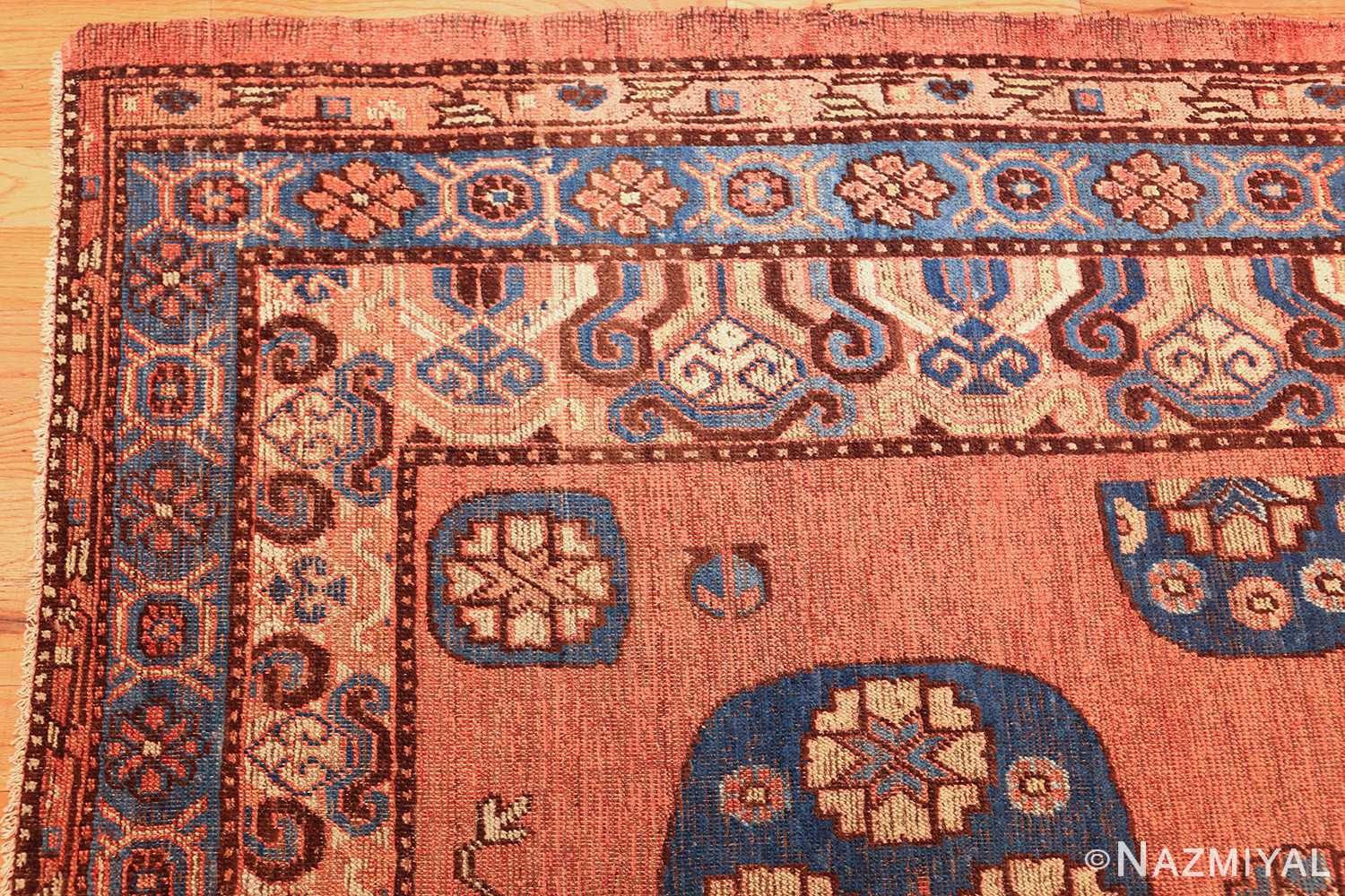 early 18th century antique east turkestan khotan rug 50486 corner Nazmiyal