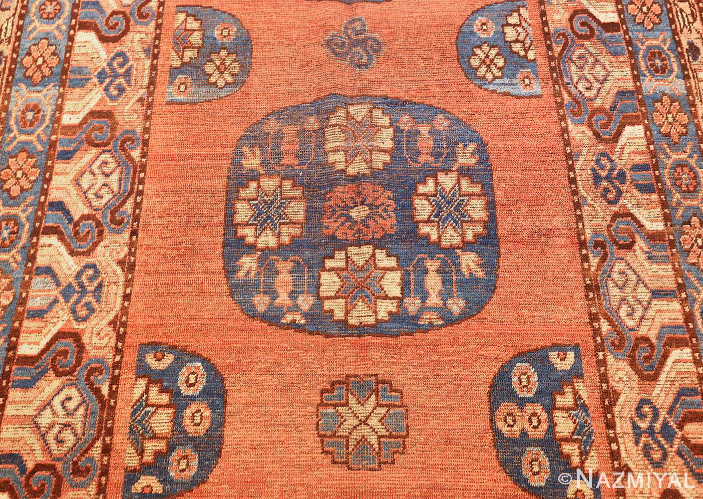 early 18th century antique east turkestan khotan rug 50486 medallion Nazmiyal
