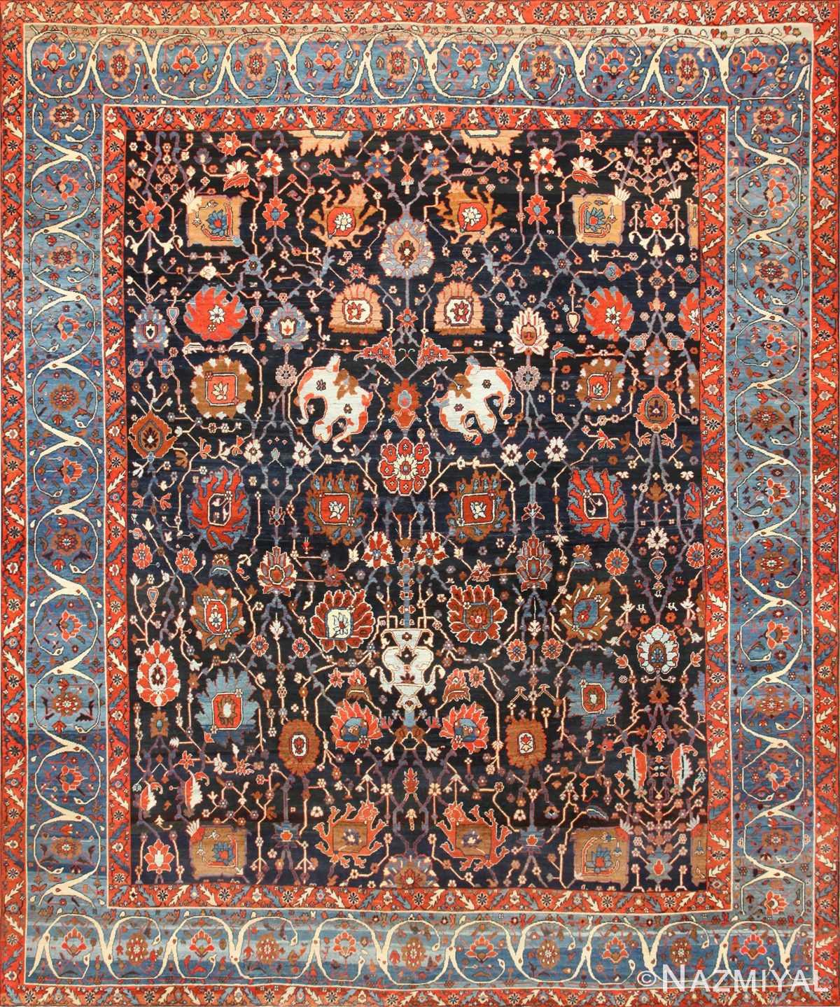 Antique Persian Bakshaish Rug 48720 Nazmiyal