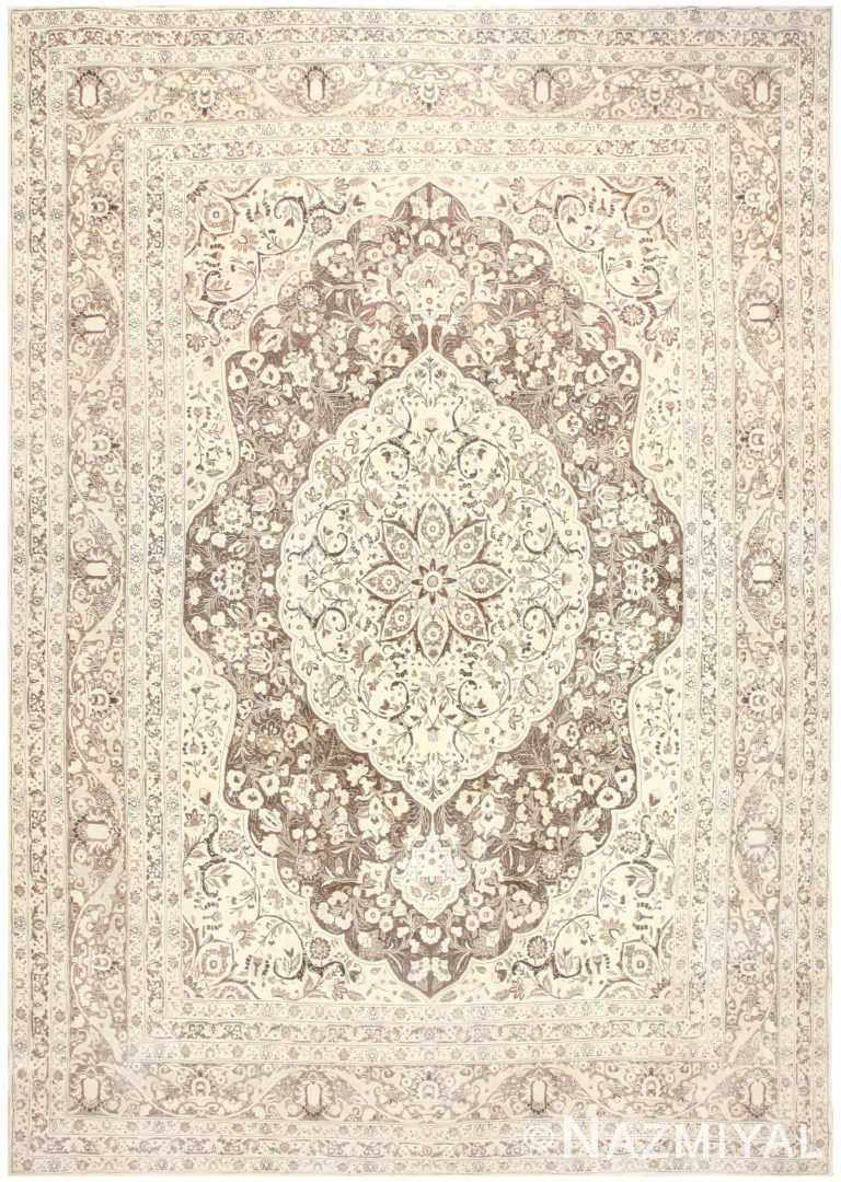 Floral Medallion Antique Persian Tabriz Rug 50450 Nazmiyal