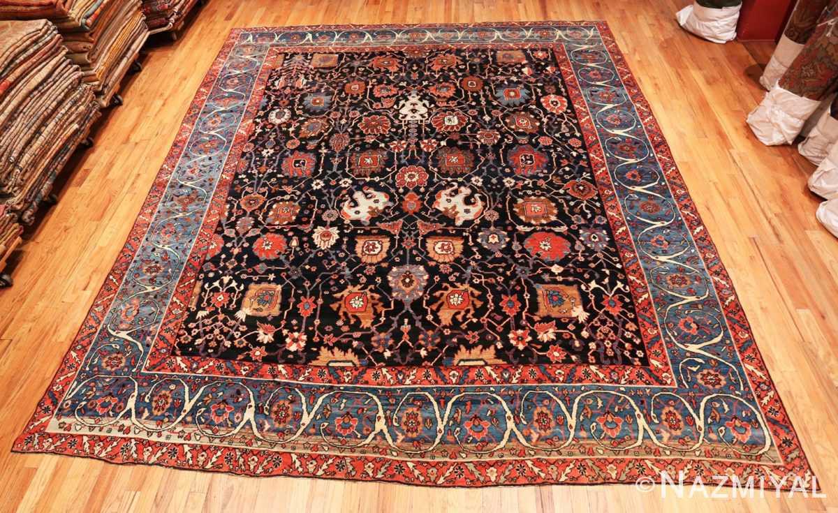 full Antique Persian Bakshash rug 48720 by Nazmiyal