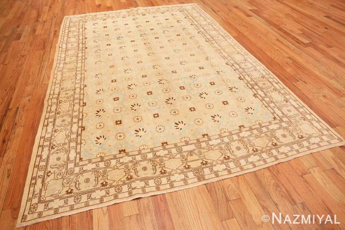 Full Light blue Antique Persian Tabriz rug 47779 by Nazmiyal