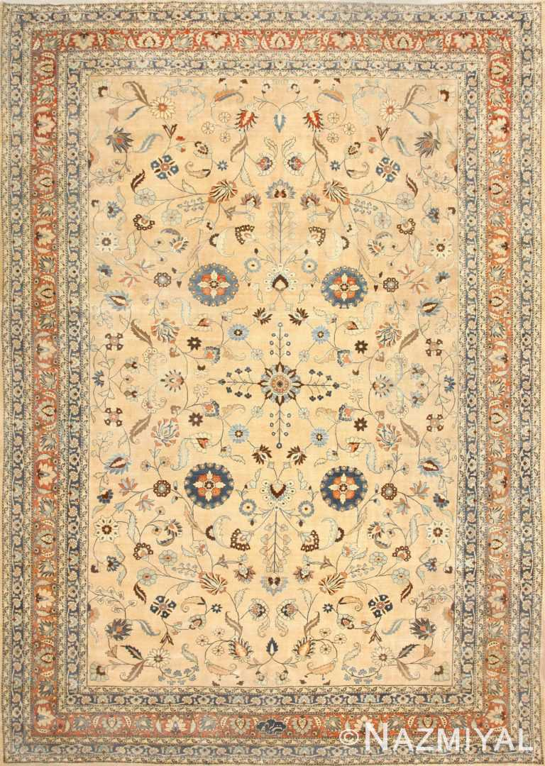 Large Antique Persian Khorassan Carpet 48386 Nazmiyal