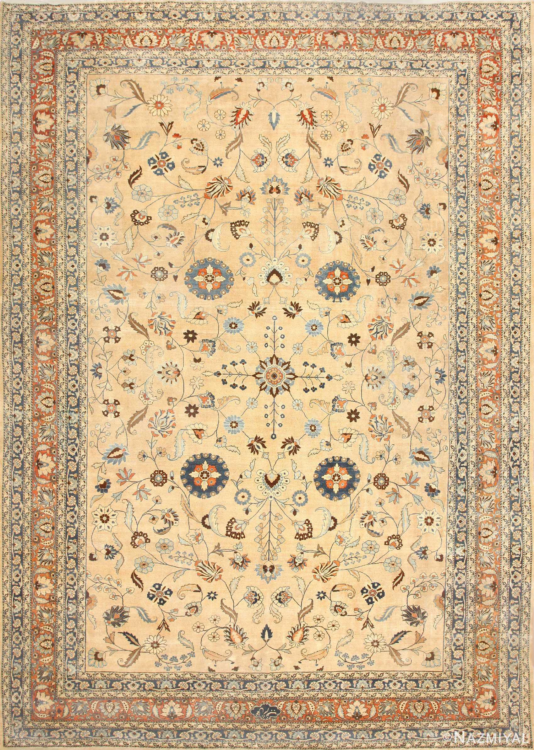 Large Antique Persian Khorassan Carpet 48386 Nazmiyal