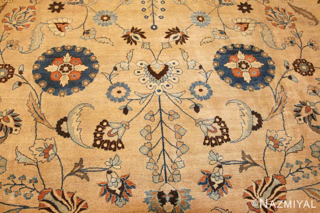 large antique persian khorassan carpet 48386 field Nazmiyal