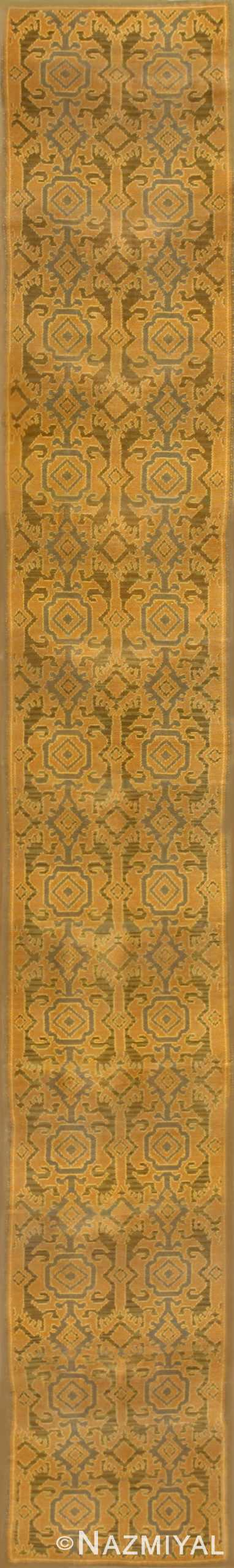 Long Antique Spanish Runner Rug 50472 Nazmiyal
