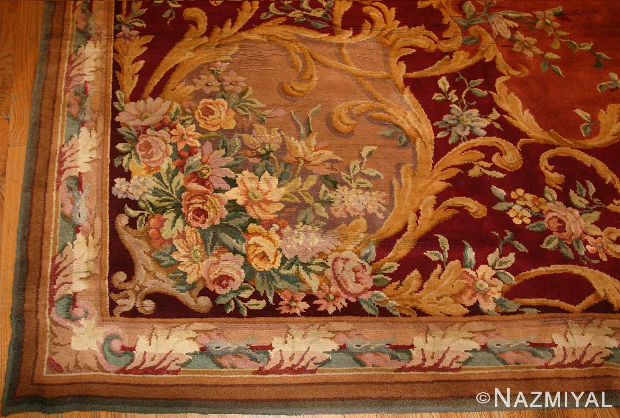 oversized antique french savonnerie rug 50561 border Nazmiyal