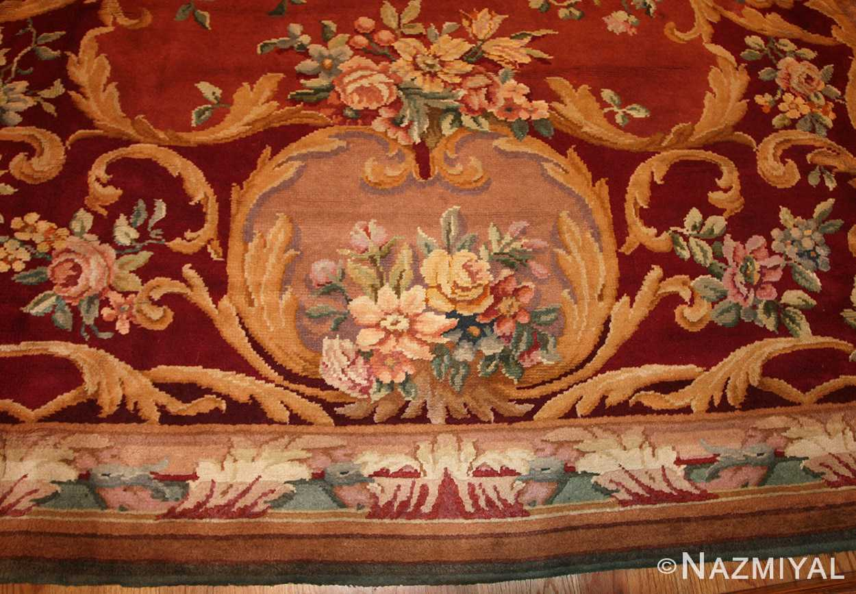 oversized antique french savonnerie rug 50561 design Nazmiyal