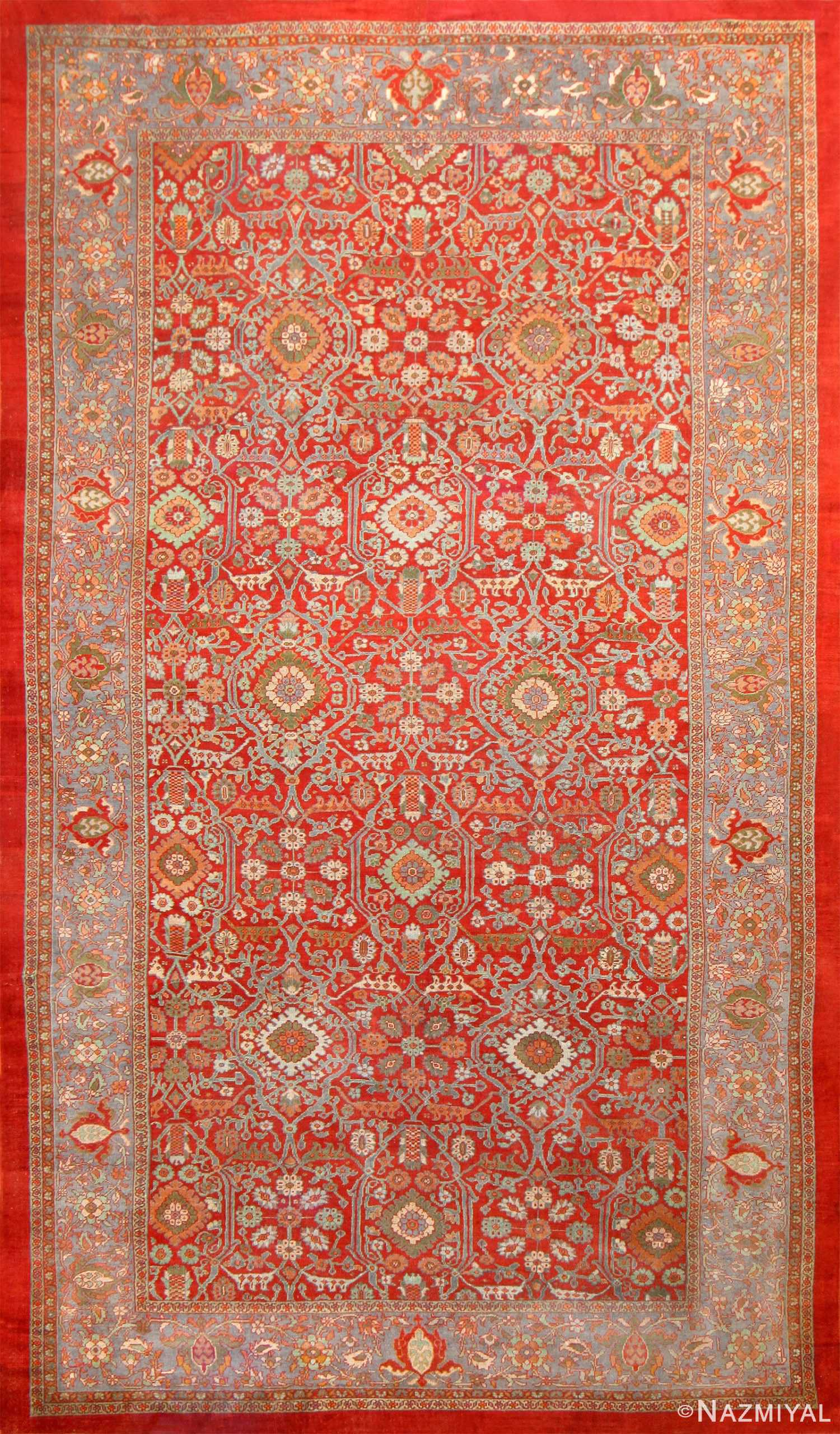 Oversized Antique Persian Sultanabad Red Rug 48730 Nazmiyal