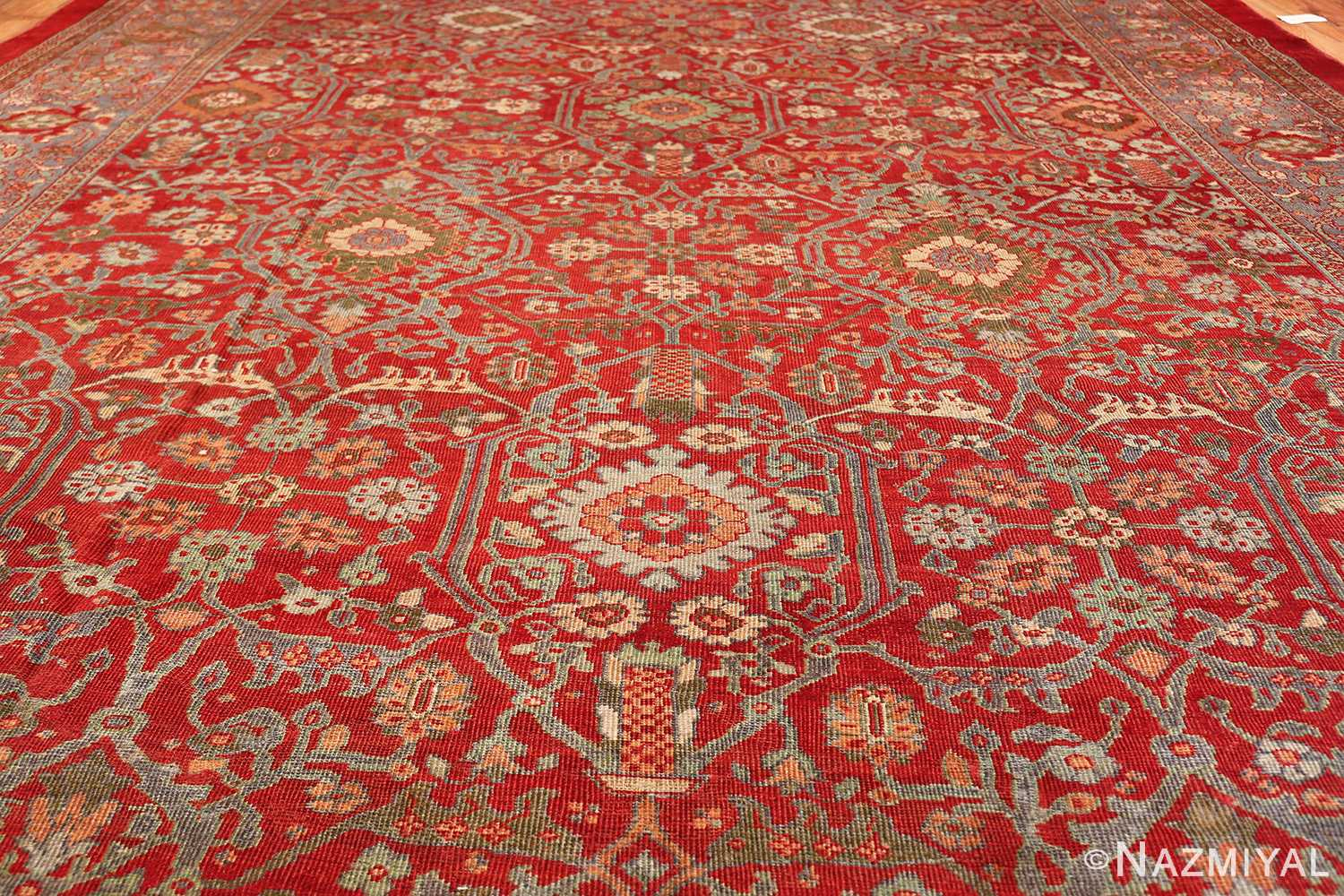 oversized antique persian sultanabad rug 48730 field Nazmiyal