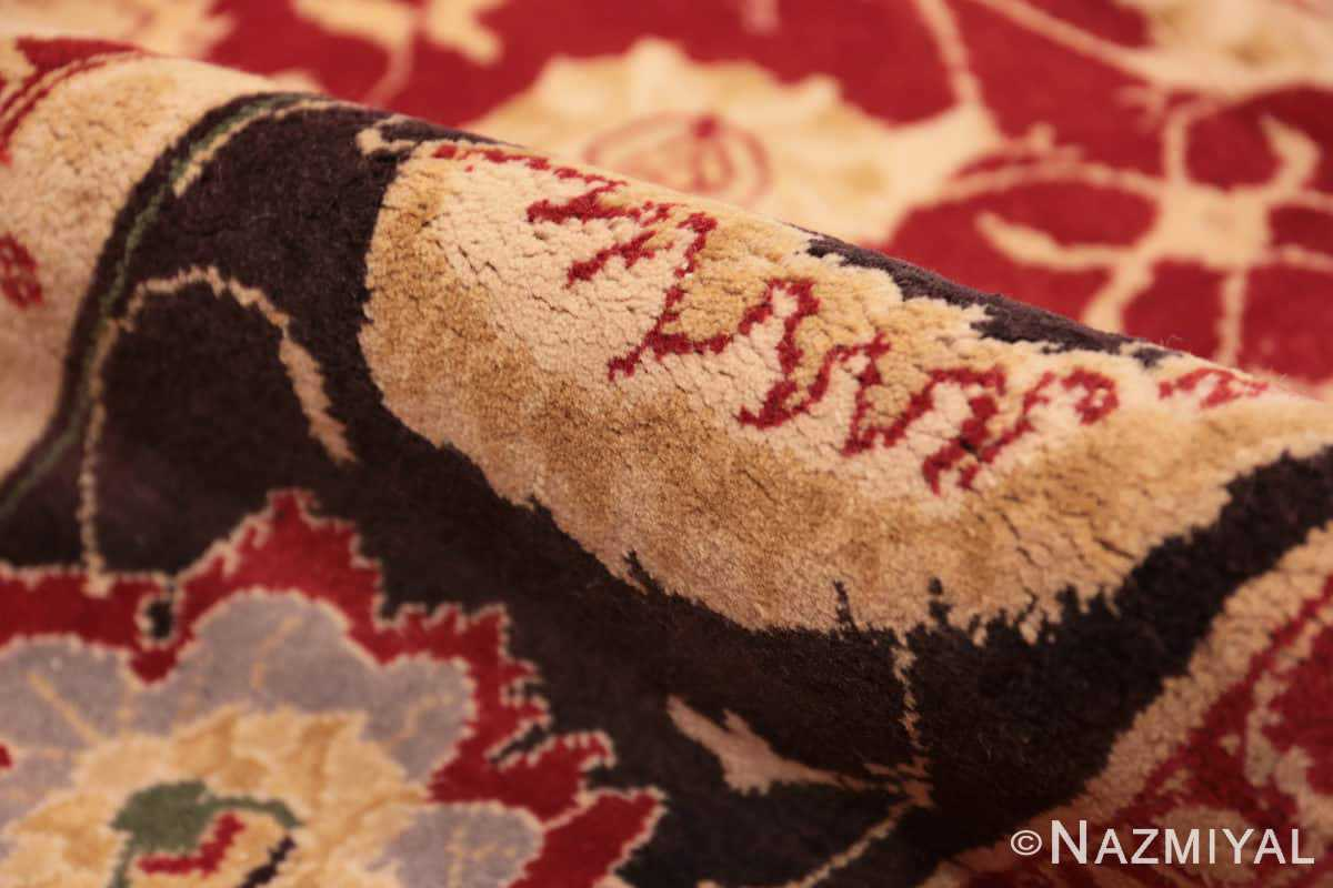 Pile Red background Vintage Indian Agra rug 48756 by Nazmiyal