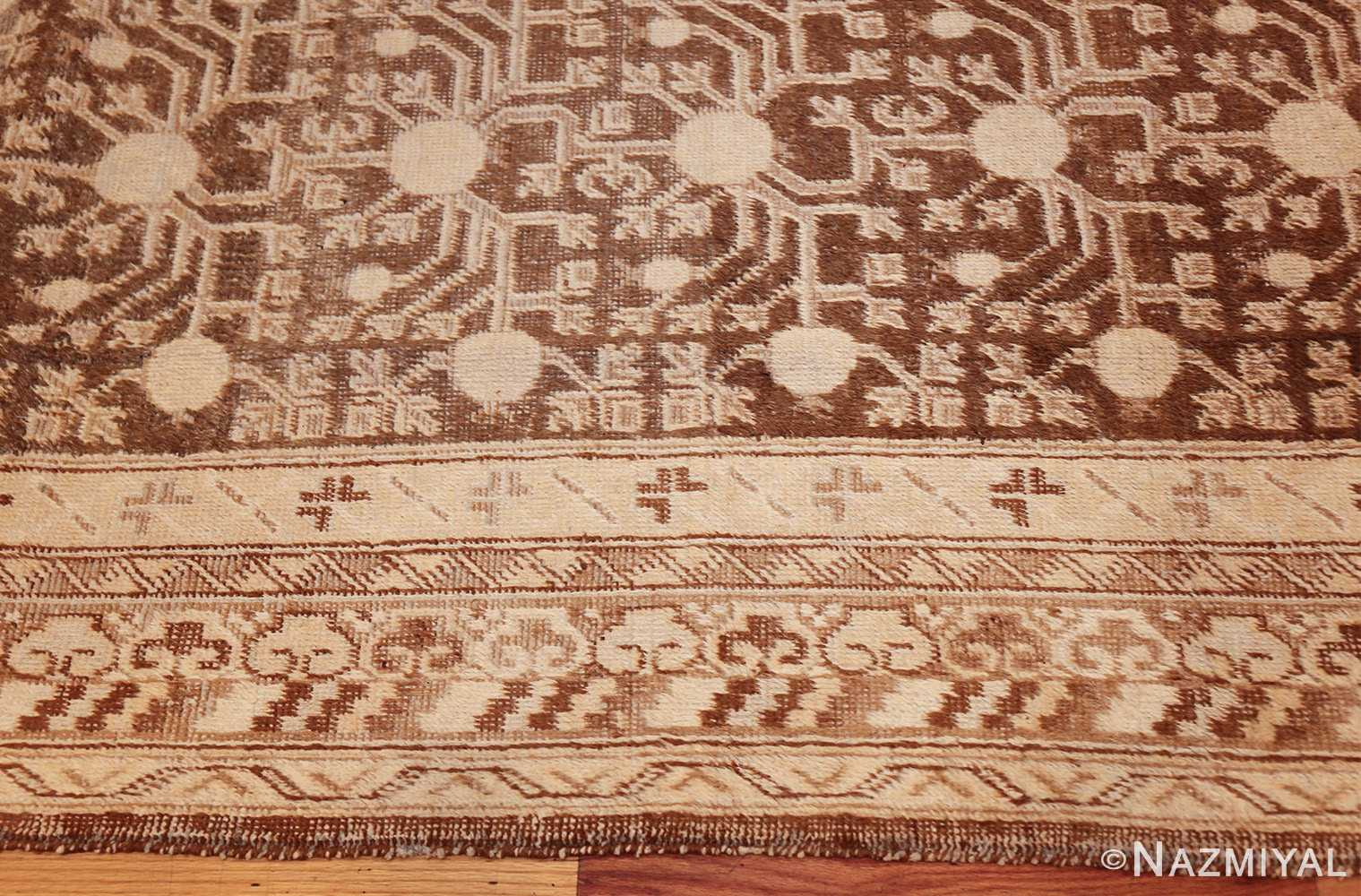 shabby chic antique east turkestan khotan rug 50485 border Nazmiyal