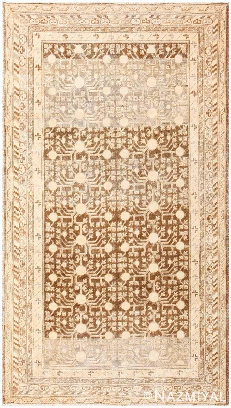 Shabby Chic Antique East Turkestan Khotan Rug 50485 Nazmiyal
