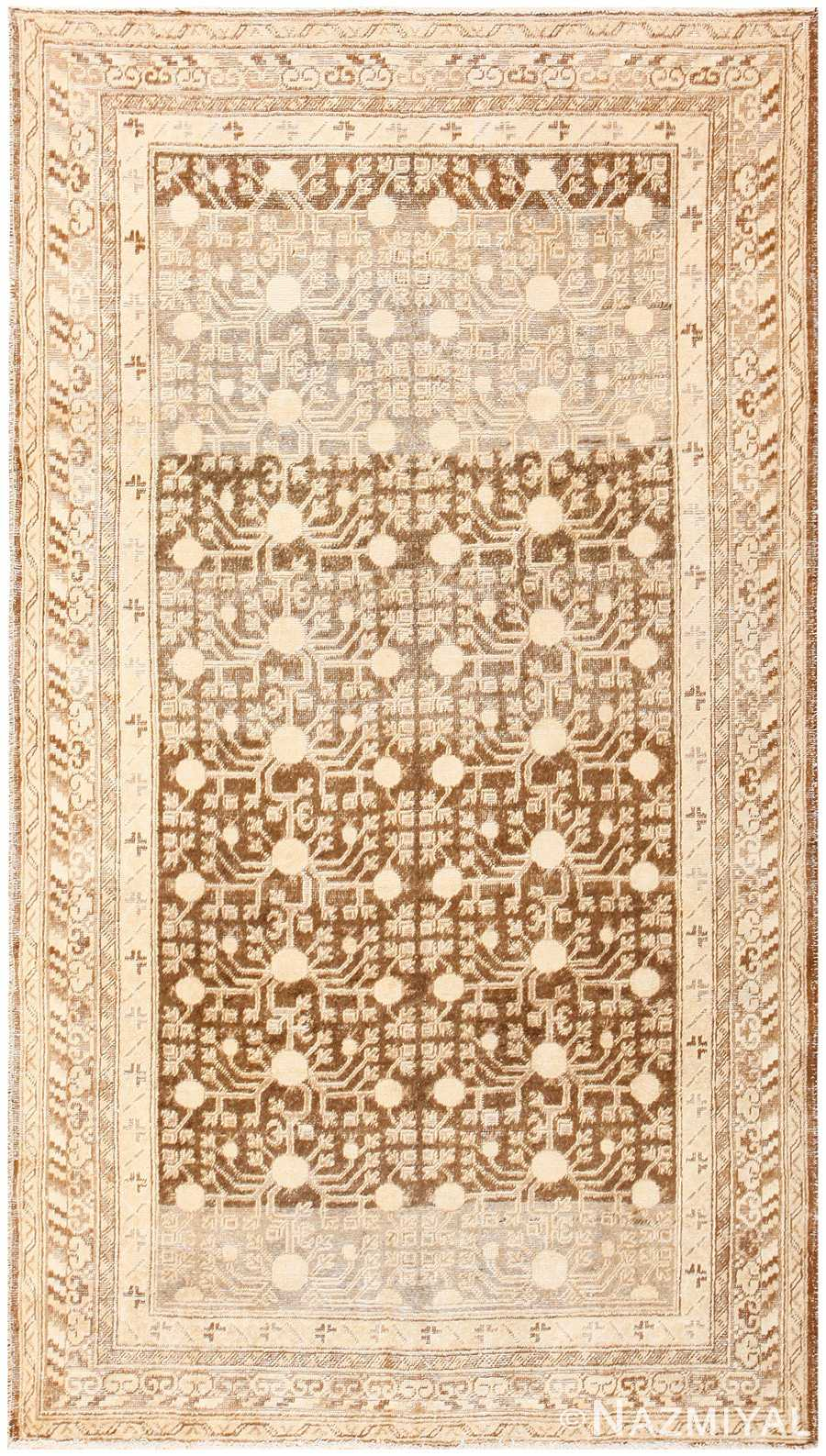 Shabby Chic Antique East Turkestan Khotan Rug 50485 Nazmiyal