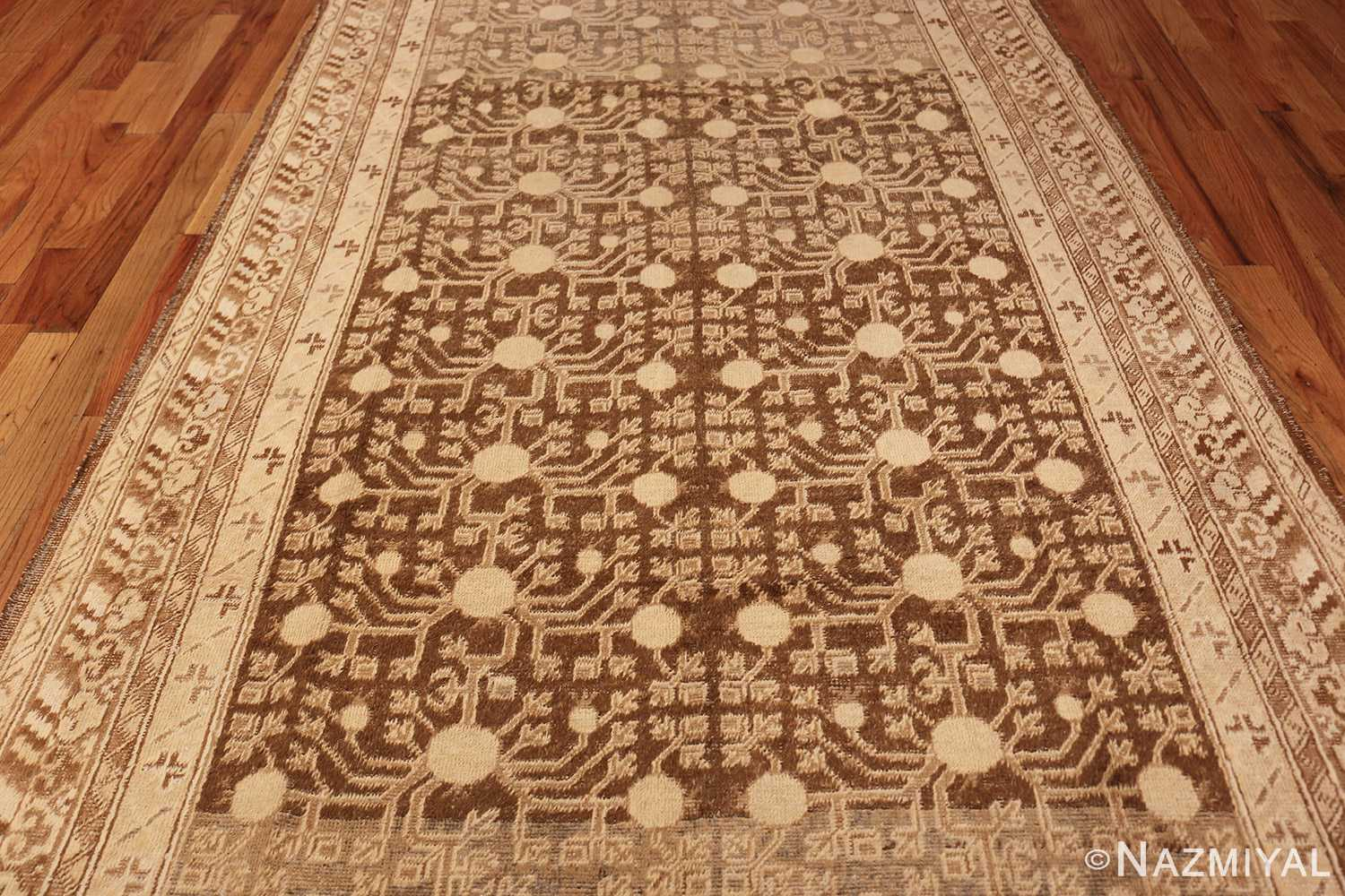 shabby chic antique east turkestan khotan rug 50485 field Nazmiyal