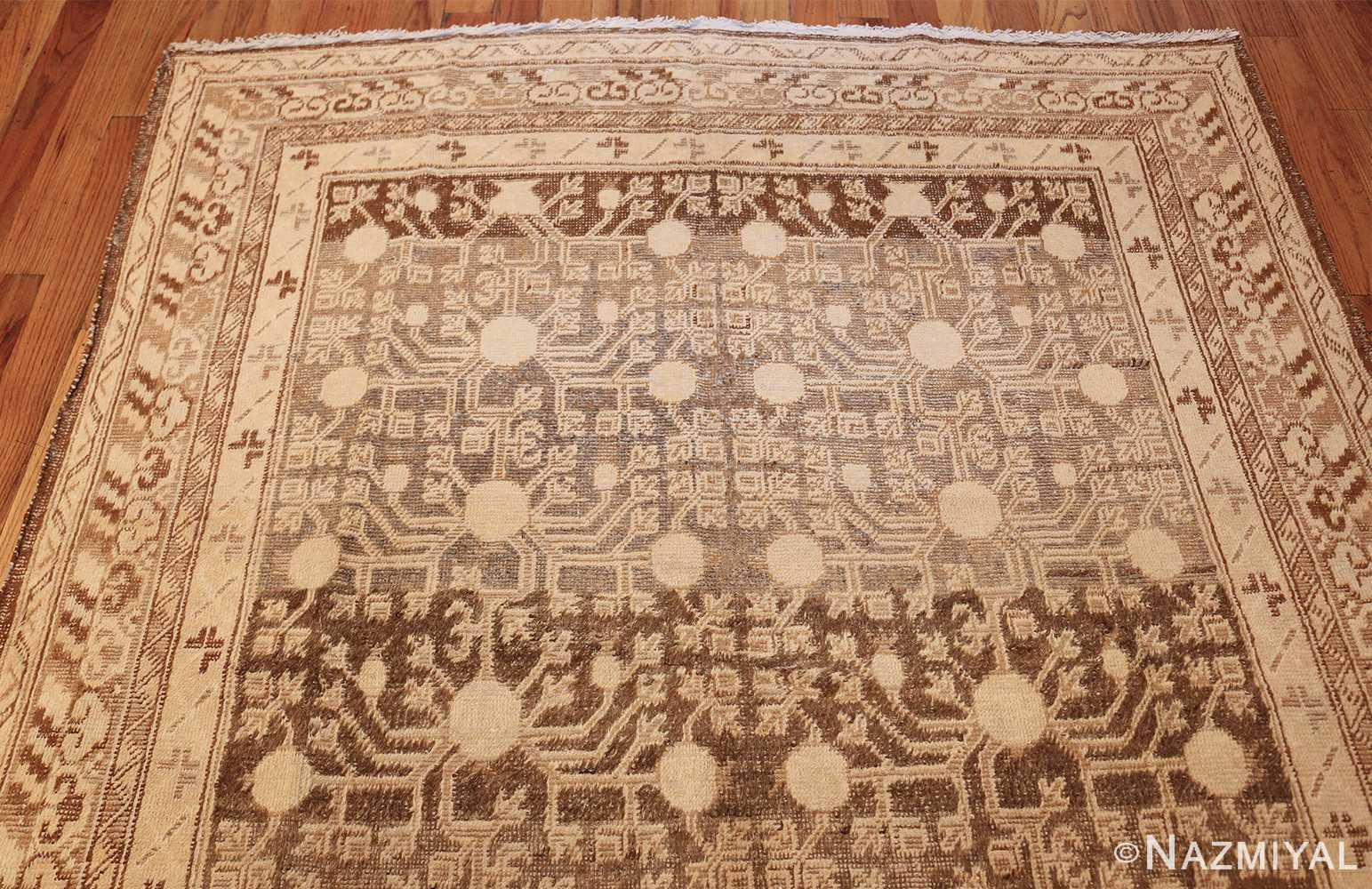 shabby chic antique east turkestan khotan rug 50485 top Nazmiyal