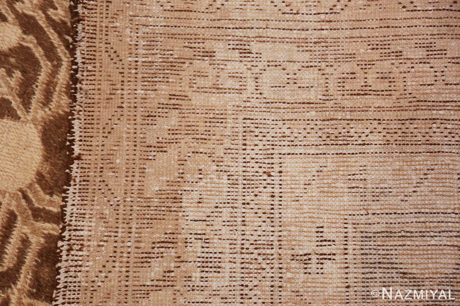 shabby chic antique east turkestan khotan rug 50485 weave Nazmiyal