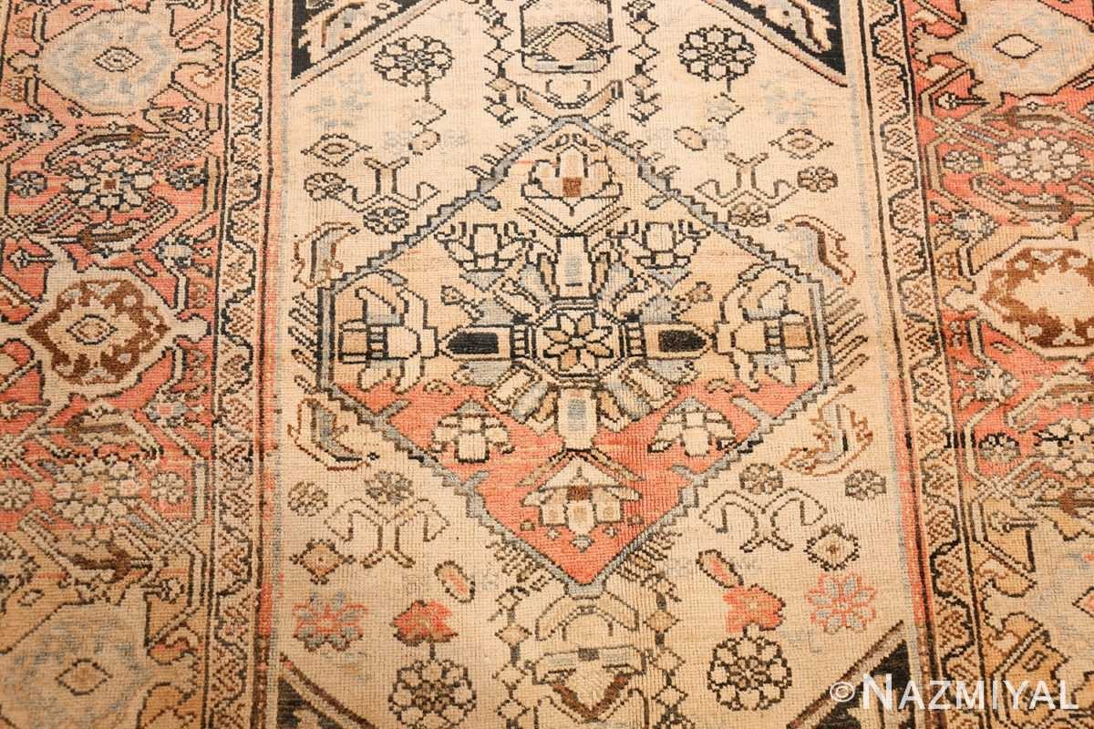 small antique persian malayer rug 50403 medallion Nazmiyal
