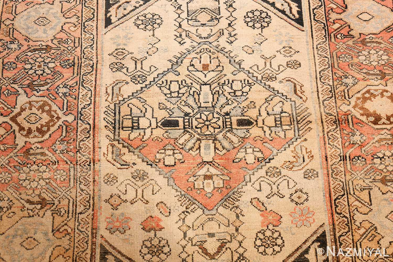 small antique persian malayer rug 50403 medallion Nazmiyal