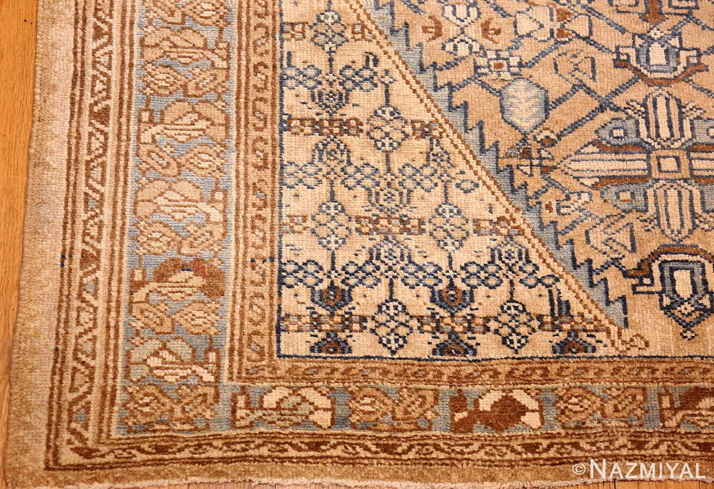 small tribal antique persian malayer rug 50417 corner Nazmiyal