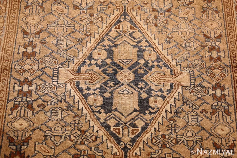 small tribal antique persian malayer rug 50417 medallion Nazmiyal