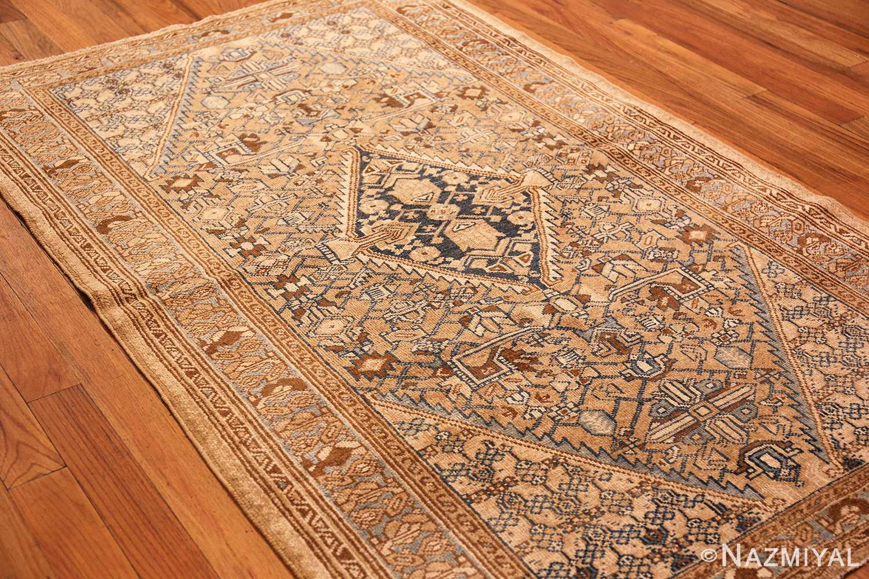 small tribal antique persian malayer rug 50417 side Nazmiyal