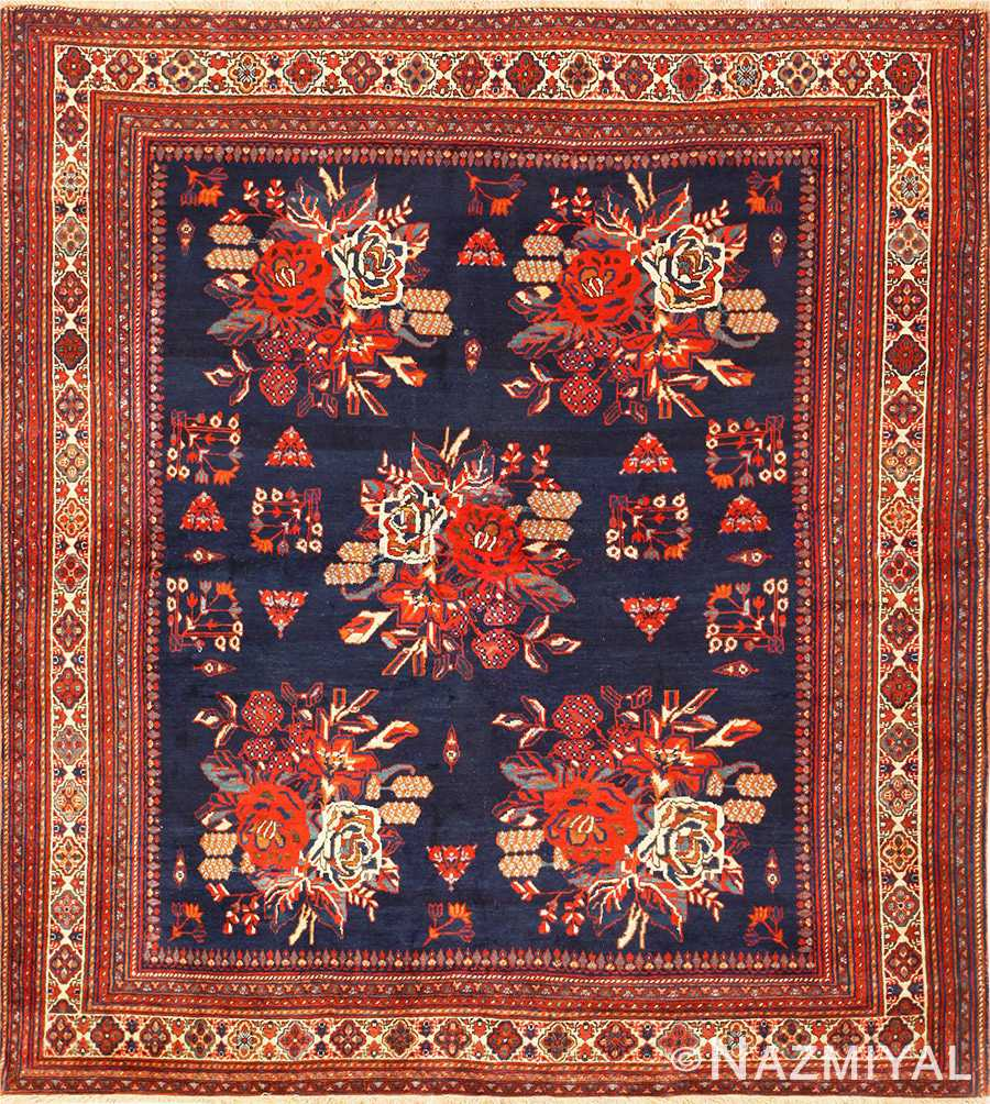 Square Antique Persian Afshar Rug 50397 Nazmiyal