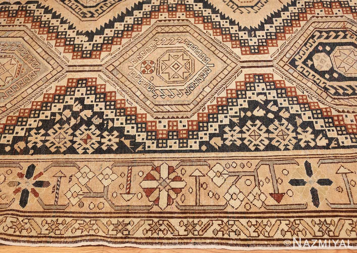 tribal antique caucasian shirvan rug 50473 border Nazmiyal