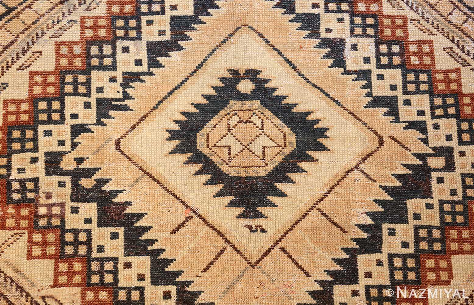 tribal antique caucasian shirvan rug 50473 center Nazmiyal