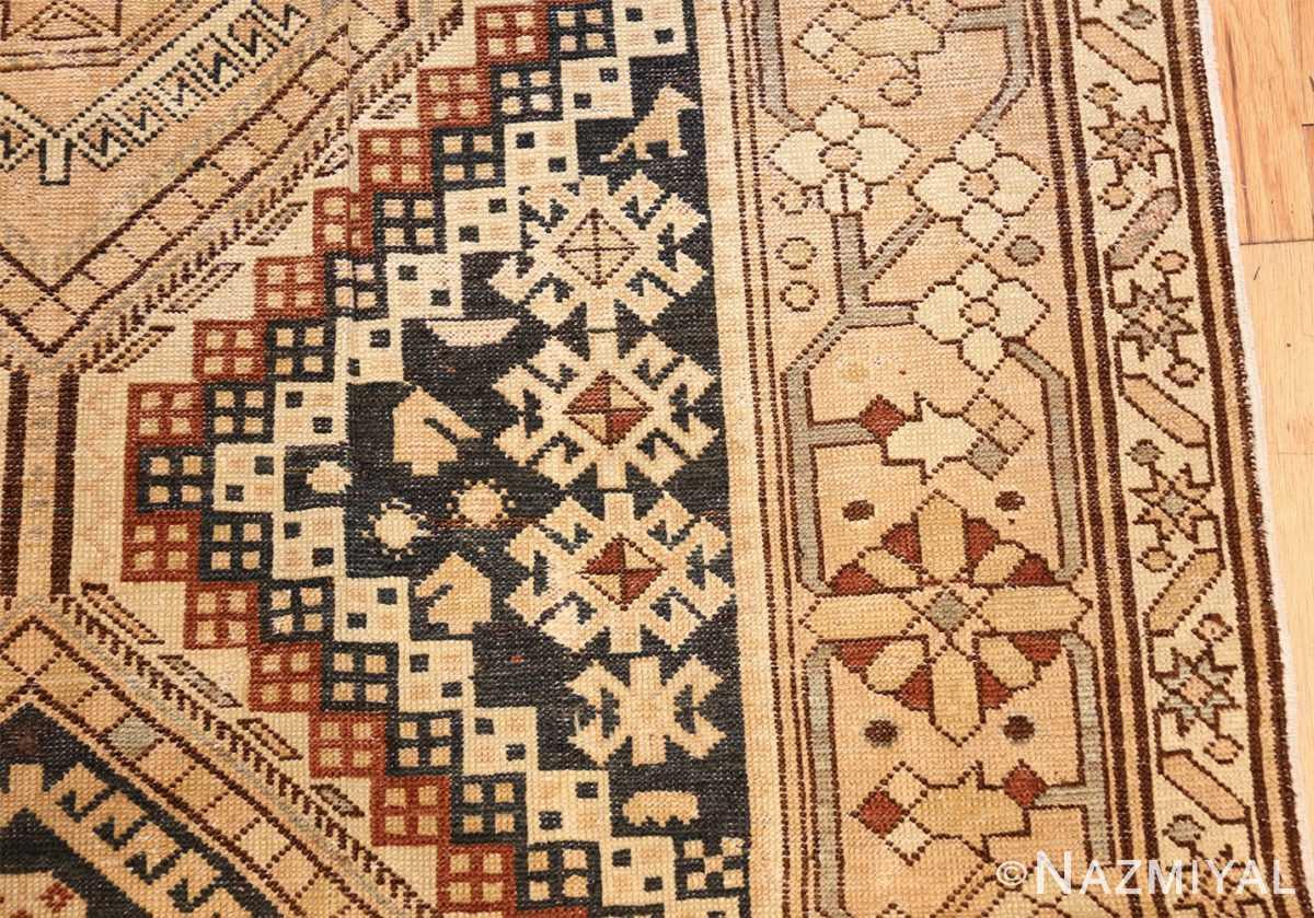 tribal antique caucasian shirvan rug 50473 closeup Nazmiyal