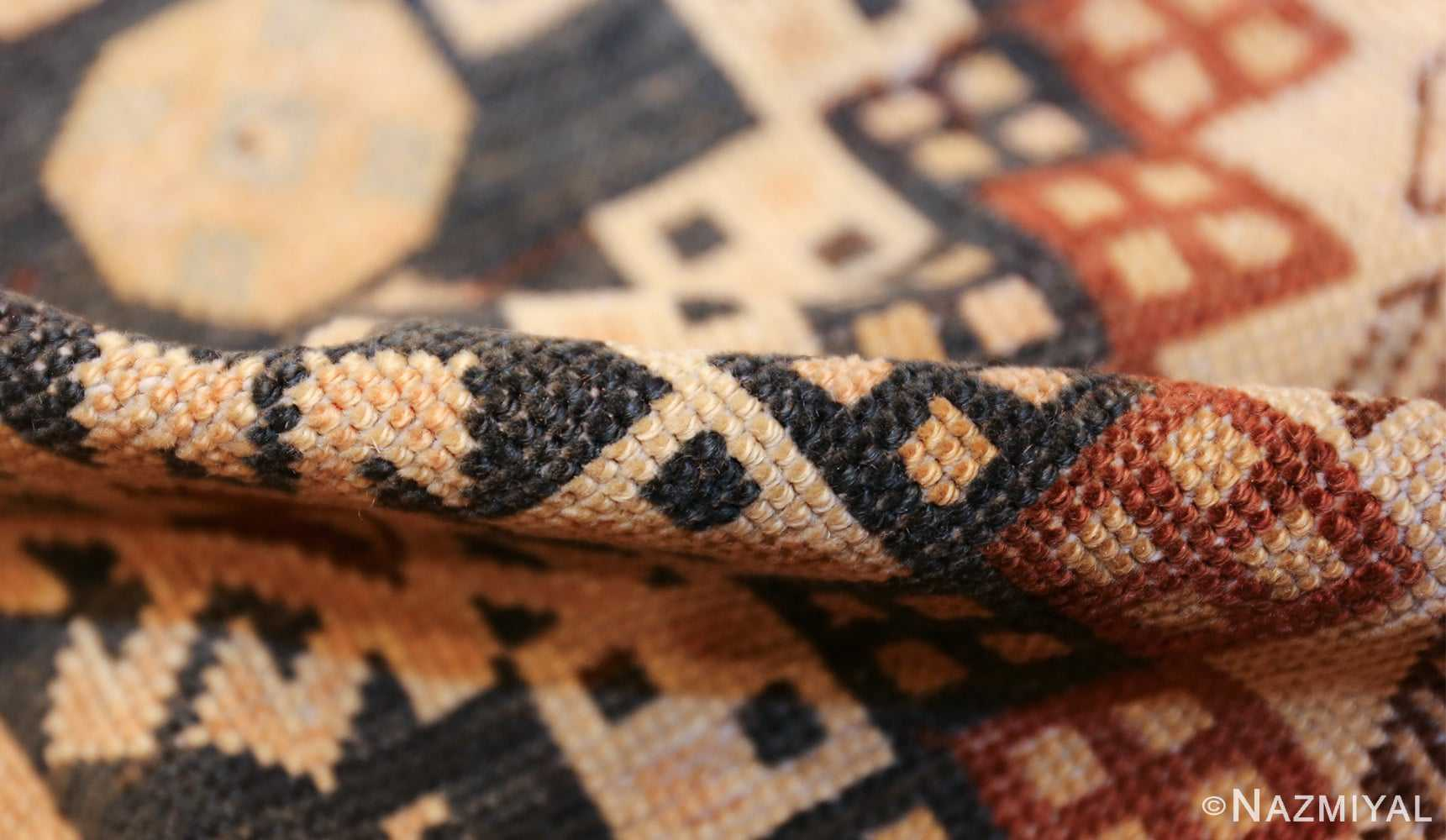tribal antique caucasian shirvan rug 50473 pile Nazmiyal