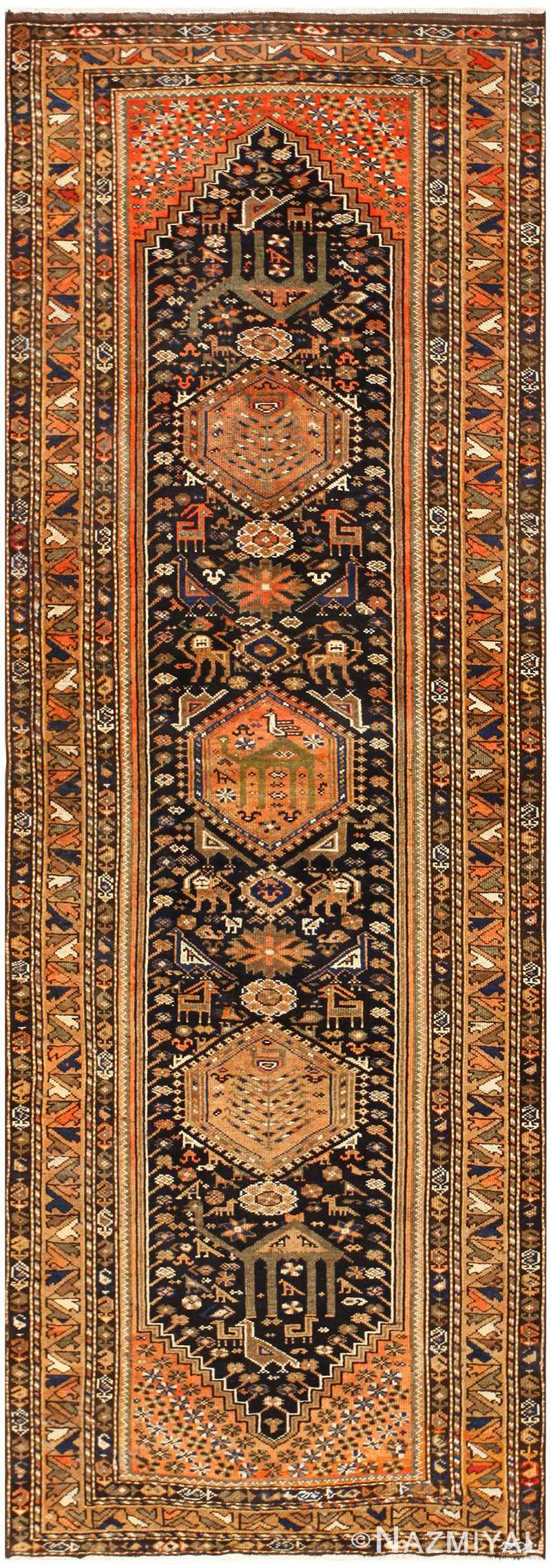 Animal Motif Vintage Persian Qashqai Rug 50466 Nazmiyal