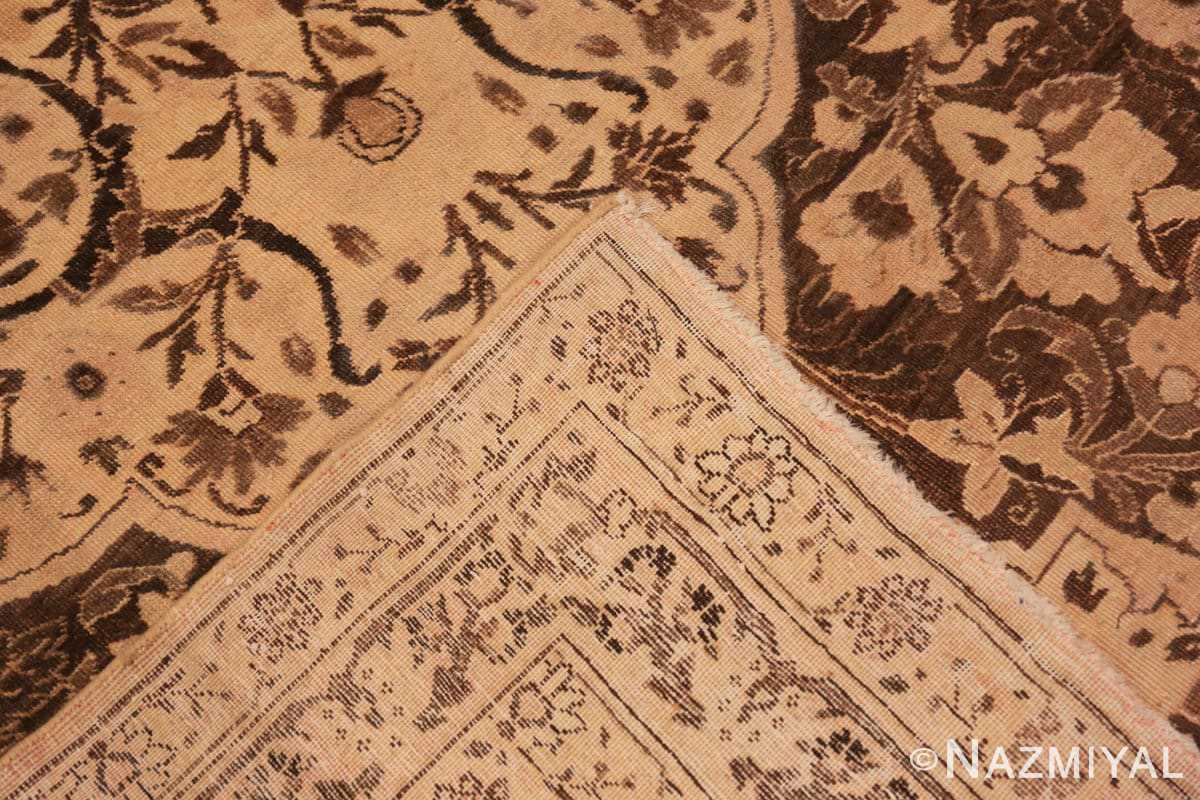 Weave Brown background Large Antique Persian Tabriz rug 50450 by Nazmiyal Antique Rugs