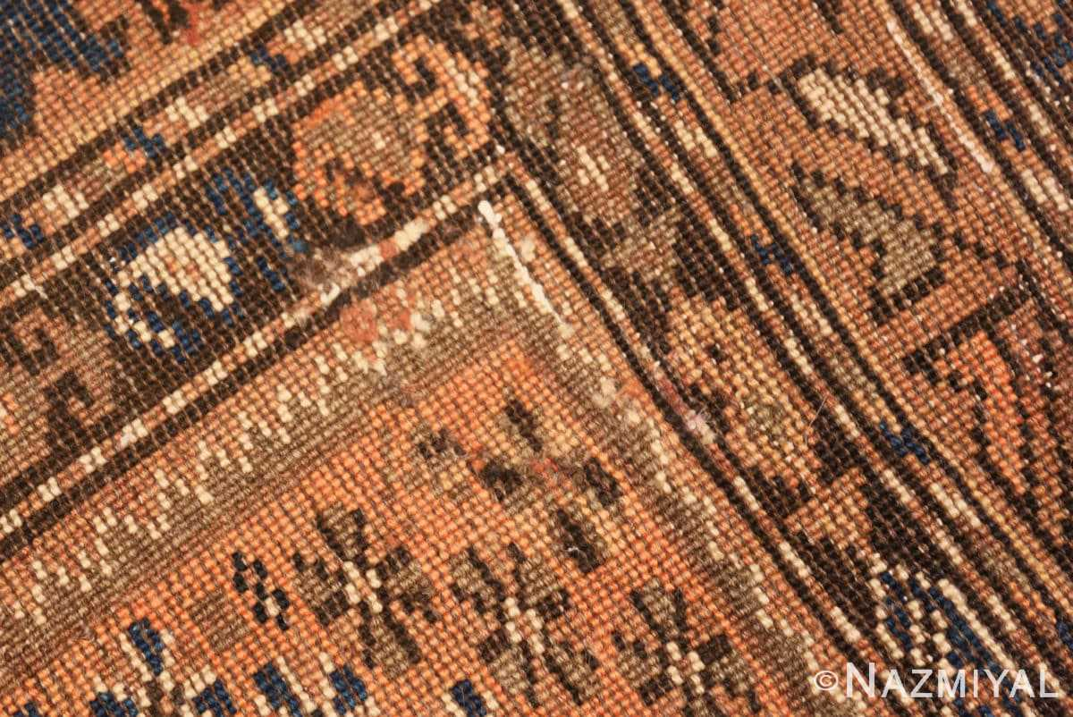 Weave detail Vintage Persian qashqai rug 50466 by Nazmiyal