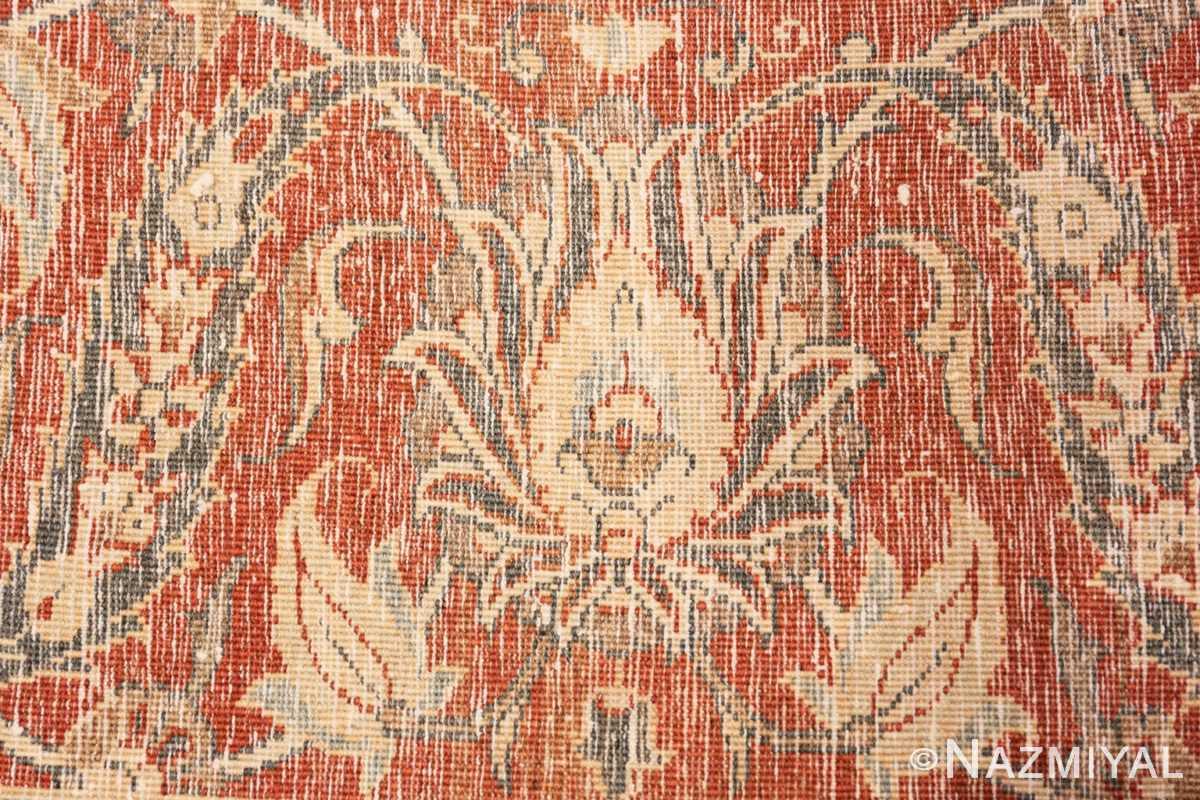 Weave detail Antique Persian Tabriz rug 50253 by Nazmiyal