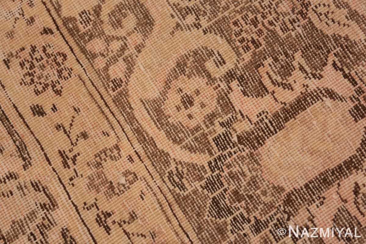 Weave detail Brown background Large Antique Persian Tabriz rug 50450 by Nazmiyal Antique Rugs