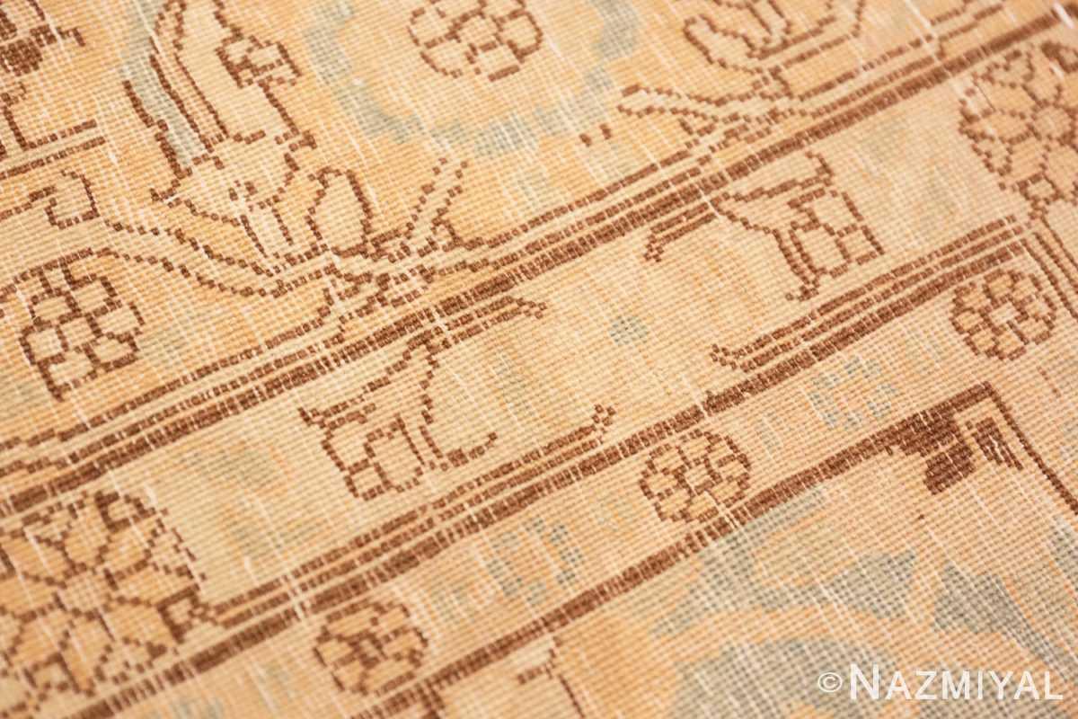 Weave detail Light blue Antique Persian Tabriz rug 47779 by Nazmiyal
